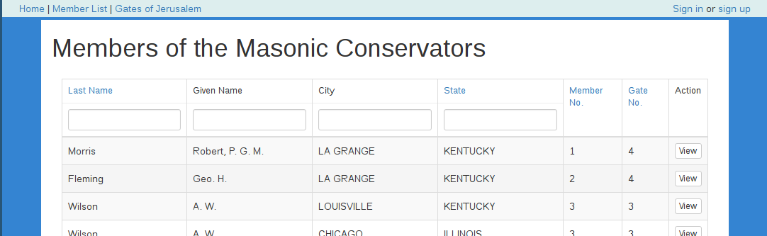 """The Masonic Conservators database"""